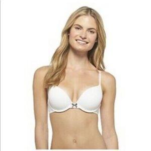 Xhilaration Push-up Perfect T shirt Bra 32A White